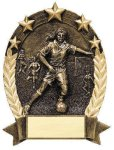 5 Star Oval  Soccer 5 Star Oval Resin Trophy Awards