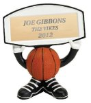 Ball Head Basketball Resin Figure Basketball Trophy Awards