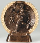 Resin Plate  Basketball Mini Basketball Trophy Awards