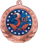 3rd Place Motion Medal Basketball Trophy Awards