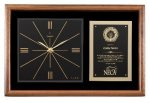 Walnut Wall Clock Plaque Boss Gift Awards