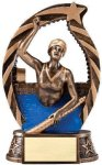 Bronze and Gold Swim , Female Award Bronze and Gold Star Resin Trophy Awards