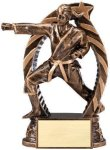 Bronze and Gold Karate, Female Award Bronze and Gold Star Resin Trophy Awards