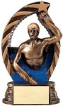 Bronze and Gold Swim  Male Award Bronze and Gold Star Resin Trophy Awards