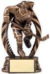 Antique Bronze and Gold Hockey Female Award Bronze and Gold Star Resin Trophy Awards