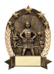 5 Star Oval  Cheerleader Cheerleading Trophy Awards