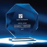 Crystal Octavia Clear Optical Crystal Awards