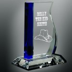 Blue Wave Glass Award Cobalt Glass Awards