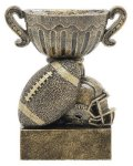 Sport Cup Football Antique Gold Football Trophy Awards