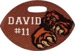 Glossy Double Sided Football Bag Tag Football Trophy Awards