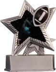 Football - Silver Star Motion Series Resin Football Trophy Awards