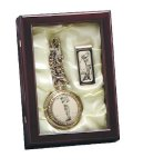 Golf Pocket Watch and Money Clip in Box Game Gifts