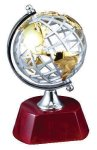 World Globe on Rosewood Base Globe Awards