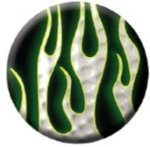 Ball Marker Black/White Flames Golf Gift Items