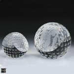 Golf Ball Paper Weight Crystal Award Golf Glass and Crystal Awards