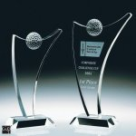 Fantasia Golf Crystal Award Golf Glass and Crystal Awards