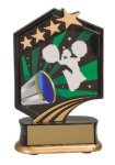 Cheerleading Resin Trophy Graphic Star Resin Trophy Awards
