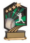 Baseball Resin Trophy Graphic Star Resin Trophy Awards