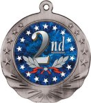 2nd Place Motion Medal Military Trophy Awards