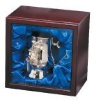 Nickel Plated Golf Tankard In Wood Box Misc. Gift Awards