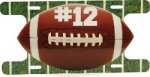 Aluminum Football Action License Plate Misc. Gift Awards