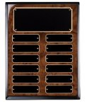 Burl Piano Finish Perpetual Plaque Monthly Perpetual Plaques
