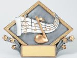Resin Diamond Plate Music Music Trophy Awards