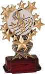 Music - Starburst Resin Trophy Music Trophy Awards