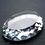 Gem Cut Oval (Flat Bottom) Paper Weights