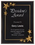 Black Star Acrylic Award Recognition Plaque Patriotic Awards