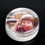 Round Paper Weight with Insert Photo Gift Items