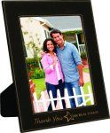 Black Leatherette Picture Frame Photo Gift Items