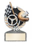 Racing Multi Color Sport Resin Figure Racing Trophy Awards