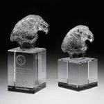 Eagle Head II Crystal Award Sales Awards