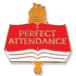 Perfect Attendance Lapel Pin Scholastic Trophy Awards
