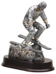 Skiing, Male Signature Rosewood Resin Trophy Awards