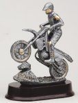 Motorcycle On Rock Signature Rosewood Resin Trophy Awards