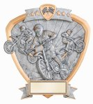 Signature Series Motocross Shield Award Signature Shield Resin Trophy Awards
