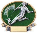 3D Oval Soccer F Soccer Trophy Awards