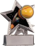 Softball - Silver Star Motion Series Resin Softball Trophy Awards