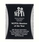 Black/Silver Reflection Acrylic Award Recognition Plaque Star Plaques