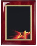 Rosewood Piano Finish Corporate Plaque Star Plaques