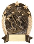 5 Star Oval  Swimming Swimming Trophy Awards