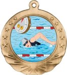 Swimming Motion Medal Swimming Trophy Awards