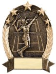 5 Star Oval Tennis Tennis Trophy Awards