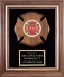 Genuine Walnut Frame With Fireman Casting Walnut Plaques